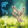 Kép 1/4 - Geometrikus állatos nyakláncok, több színben