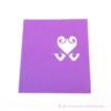 Kép 2/3 - Írható papír ültető kártya szív, több színben