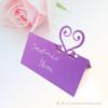 Kép 1/3 - Írható papír ültető kártya szív, több színben