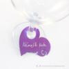 Kép 1/4 - Írható papír pohár jelölő szív, több színben
