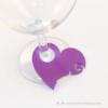 Kép 3/4 - Írható papír pohár jelölő szív, több színben
