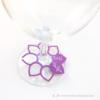 Kép 1/5 - Írható papír pohár jelölő virág, több színben