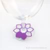 Kép 3/5 - Írható papír pohár jelölő virág, több színben