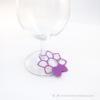 Kép 4/5 - Írható papír pohár jelölő virág, több színben