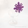 Kép 1/4 - Írható papír pohár jelölő virág, több színben