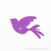 Kép 2/4 - Írható papír pohár jelölő madár, több színben