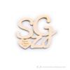 Kép 1/4 - Egyedi monogramos poháralátét, több színben