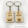 Kép 4/6 - His Queen, Her King páros kulcstartó