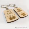 Kép 6/6 - His Queen, Her King páros kulcstartó