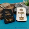 Kép 1/6 - His Queen, Her King páros kulcstartó