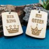 Kép 5/6 - His Queen, Her King páros kulcstartó