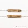 Kép 2/4 - His Queen, Her King páros karkötő