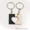 Kép 2/4 - Kivágott szív páros kulcstartó