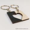 Kép 3/4 - Kivágott szív páros kulcstartó