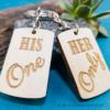 Kép 5/6 - Her Only, His One páros kulcstartó