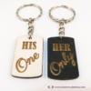 Kép 2/6 - Her Only, His One páros kulcstartó