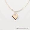 Kép 3/6 - Mini nyírfa szív nyaklánc, több színben