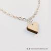 Kép 4/6 - Mini nyírfa szív nyaklánc, több színben