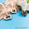 Kép 1/6 - Szív a szívben gravírozott nyaklánc, több színben