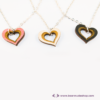 Kép 2/6 - Szív a szívben gravírozott nyaklánc, több színben