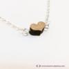 Kép 3/4 - Mini diófa szív karkötő