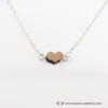 Kép 2/4 - Mini diófa szív karkötő