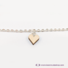 Kép 3/6 - Mini nyírfa szív karkötő, több színben