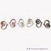Kép 2/5 - Rajzolt szívecske fülbevaló, több színben