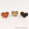 Kép 2/5 - Szív a szívben gravírozott gyűrű, több színben