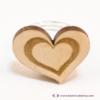 Kép 3/5 - Szív a szívben gravírozott gyűrű, több színben