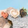 Kép 1/5 - Szív a szívben gravírozott gyűrű, több színben