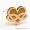 Kép 4/5 - Szív és végtelen gyűrű, több színben