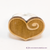 Kép 3/5 - Gravírozott nyírfa szívecske gyűrű, több színben