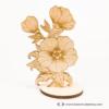Kép 2/3 - Gravírozott Virág, több színben