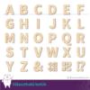 Kép 1/2 - Fa Betű Sans, több méretben és színben, 3 - 56 cm