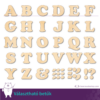Kép 1/2 - Fa Betű Serif, több méretben és színben, 3 - 56 cm