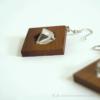 Kép 3/4 - Hegyikristály szögletes fülbevaló