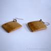 Kép 3/4 - Bambusz rombusz fülbevaló