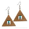 Kép 2/4 - Kristály és türkiz háromszög fülbevaló