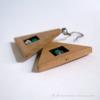 Kép 3/4 - Kristály és türkiz háromszög fülbevaló