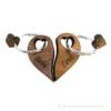 Kép 1/5 - Páros gravírozott diófa kulcstartó