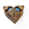 Kép 4/5 - Páros gravírozott diófa kulcstartó