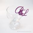 Egyedi monogramos pohár jelölő, több színben