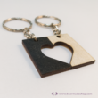 Kivágott szív páros kulcstartó