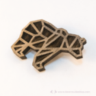Geometrikus medve kitűző