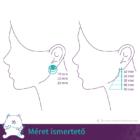 Akvamarin szögletes fülbevaló