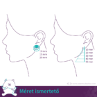 Szilvafa szív fülbevaló