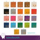 Nőnapi üdvözlőkártya, több színben