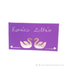 Írható papír ültető kártya hattyú, több színben