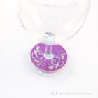 Írható papír pohár jelölő virágos, több színben